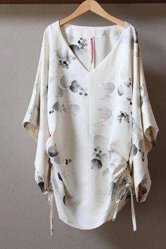 Kimono Fashion, Diy Fashion, Sexy Blouse, Vintage Kimono, Caftan Dress, Recycled Fashion, Plus Size Fashion, Nice Dresses, Cool Outfits