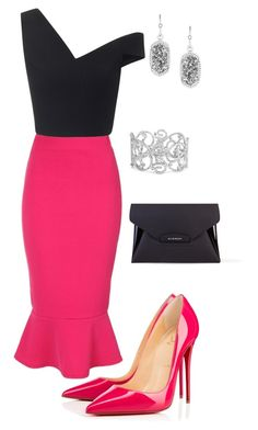 Untitled #479 by angela-vitello on Polyvore featuring Maticevski, Jane Norman, Christian Louboutin, Givenchy, Bling Jewelry and Kendra Scott