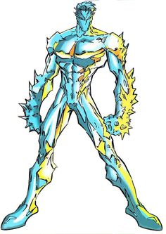 Iceman from the Age of Apocalypse.  Art by Joe Madureira.