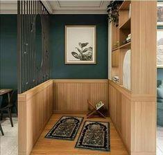 visit our website for the latest home decor trends . Home Room Design, Home Design Decor, Dream Home Design, Home Decor Trends, Home Interior Design, Open Kitchen And Living Room, Prayer Corner, Living Room Decor Inspiration, Islamic Decor