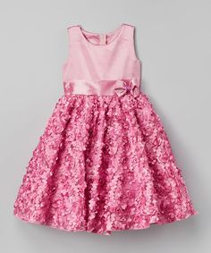 Kid Fashion Pink Rosette Dress - Infant, Toddler & Girls by Kid Fashion #zulily #zulilyfinds