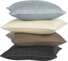 """Hayward Taupe 18"""" Pillow.  Maybe that blue for the living room"""