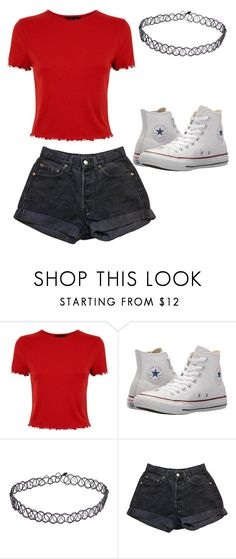 """Untitled #84"" by kacis-kacis on Polyvore featuring Converse and Levi's"
