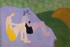 """Sketchers by the Stream"" Milton Avery, 1951"