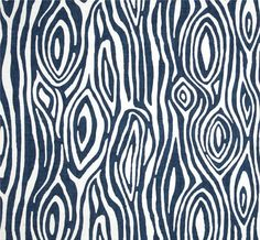 "Navy Blue & White Woodland Modern Home Decor Fabric by the Yard, 54"" Cotton Duck Drapery Fabric, Pillows, Crafts, Home Decor Fabric"