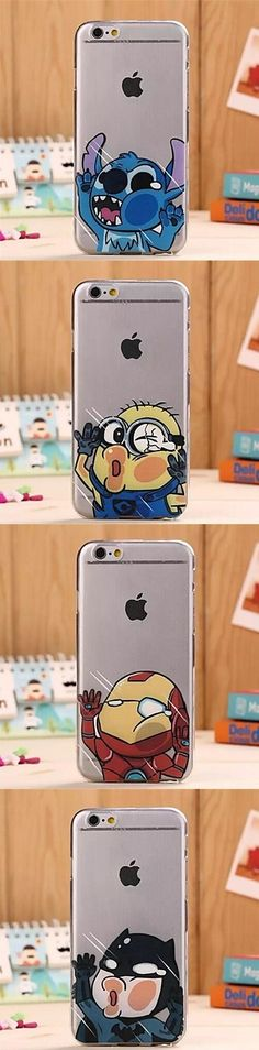 You like cartoons, right? Then those funny silicone transparent iphone 6 back covers are for you. Get one you like better: a minion, Iron Man, Batman or Stich. Click on the picture to get it.