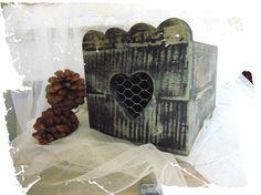 Boite en bois de couleur noire, aspect usé : Boîtes, coffrets par pleasant-home