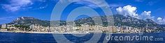 A panorama of the whole of the Principality of Monaco