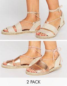 Pack de dos pares de alpargatas estilo sandalias JANICA de ASOS 23,99 € 970144