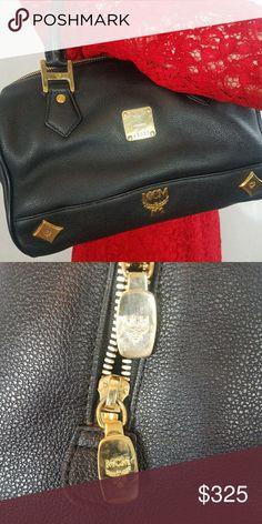 MCM Leather Satchel EUC Protective feet  Includes original dust bag  More photos soon MCM Bags Satchels