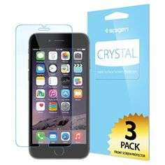 iPhone 6 Screen Protector, Spigen® [Full HD] iPhone 6 (4.7) Screen Protector [Crystal Clear][3-PACK]**JAPANESE BASE PET FILM** High Definition (HD) [LIFETIME WARRANTY] Premium Ultra Clear Front Screen Protector for iPhone 6 (4.7) (2014) - Crystal CR (SGP10927)