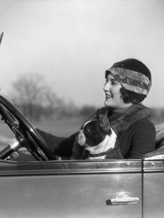 H. Armstrong Roberts   Woman driving with boston