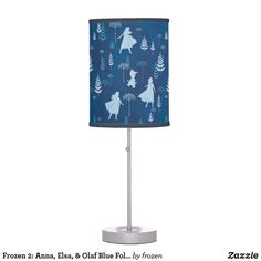 Shop Frozen Anna, Elsa, & Olaf Blue Foliage Pattern Table Lamp created by frozen. Frozen, Base Trim, Incandescent Light Bulb, Pull Chain, Trim Color, Little Girl Rooms, Rice Paper, Beautiful Patterns, Original Artwork
