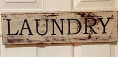 Laundry Sign by Homeroad on Etsy, $20.00