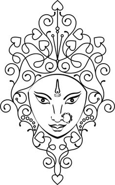 drawings pencil drawings of goddess durga ganesha coloring pages for adults. Black Bedroom Furniture Sets. Home Design Ideas
