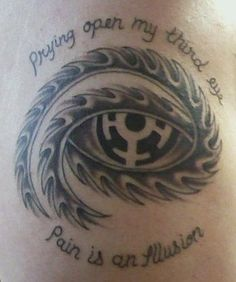 Tool tattoo!...Third eye and Parabola