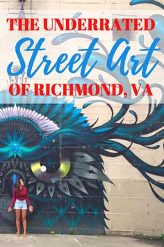 The street art in Richmond, Virginia is undiscovered and unappreciated... I want to change that! Check out some of the key murals that paint this river city!