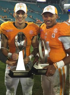 "Josh Dobbs, QB, MVP of the ""Gator"" Bowl.....and Jalen Hurd"