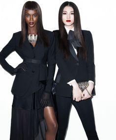 Riley Montana, Sui He, Harper's Bazaar August 2014