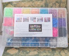 Large Rainbow loom Family loom Kit Case 4400+ Rubbers for Loom DIY Kids Gift