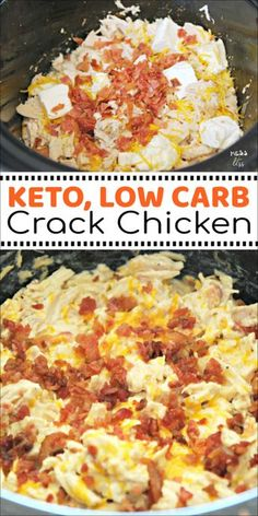 Crack Chicken in the Crock Pot is keto friendly and low carb. But you don't. This Crack Chicken in the Crock Pot is keto friendly and low carb. But you don't. This Crack Chicken in the Crock Pot is keto friendly and low carb. But you don't. Crock Pot Recipes, Keto Crockpot Recipes, Ketogenic Recipes, Slow Cooker Recipes, Cooking Recipes, Ketogenic Diet, Crockpot Low Carb Meals, Easy Keto Recipes, Keto Snacks
