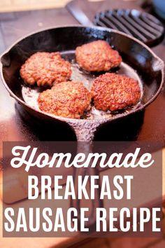 Homemade Turkey Sausage, Pork Sausage Recipes, Homemade Sausage Recipes, Sausage Spices, Homemade Spices, Breakfast Sausage Seasoning, Turkey Breakfast Sausage, Homemade Breakfast Sausage, Breakfast Sausages