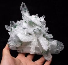 1105g New Find Green Phantom Quartz Crystal Cluster Mineral Specimen Healing