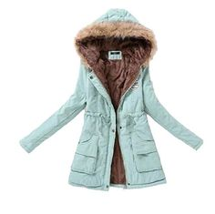 8c7b7b05557e1 Xswsy XG Womens Warm Mid-Long Coat Fur Collar Hooded Jacket Slim Winter  Parka Outwear Down Coat 8 S Best Winter Coats USA