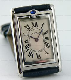 Men's Steel Cartier Tank Basculante Reverso Watch.