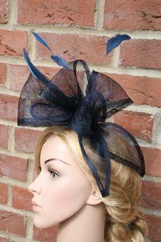 """Haarreifen """"Bow"""", dunkelblau von JulaceWest auf DaWanda.com"""