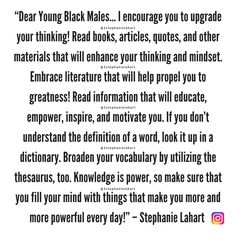 Black Male Empowerment Quotes for Black men, teens, and