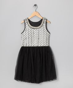 Girls / Tween Black Ribbons & Pearls Dress normally $102 - on sale today for $45.99 #gorgeousness