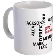 greys-names Mug on CafePress.com