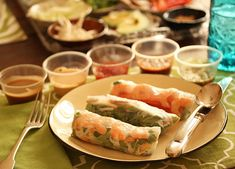 Spring Rolls with 8 Dipping Sauces