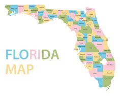 Florida Map with Capital Florida Road Map, Map Of Florida Cities, Jefferson Hamilton, Texas State Map, Florida Oranges, Map Outline, American Diner, Sunshine State, Panama City Panama
