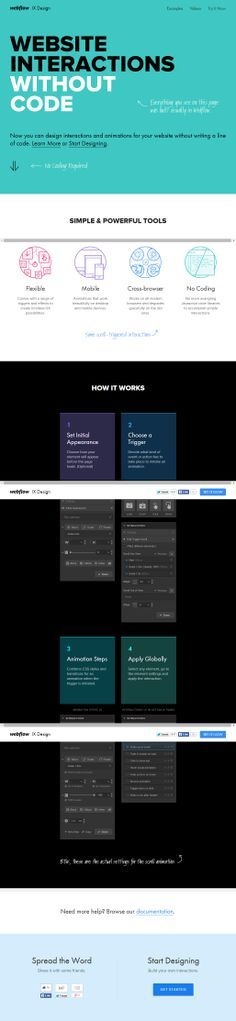 Webflow Interactions - create beautiful interactions and animations without messing with Javascript or jQuery