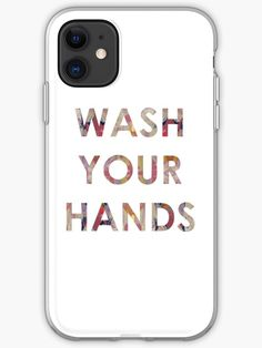 A friendly reminder to those around you to keep washing their hands during these strange times. We can all do our bit, pull together and get through it together. Glossier Stickers, Iphone Case Covers, Cotton Tote Bags, Cover Design, Iphone 11, Finding Yourself, Tech, Hands, Artists
