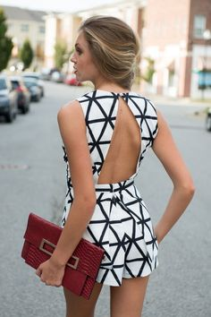65 trending outfits to try now Black white romper VS⚜ Mode Outfits, Casual Outfits, Summer Outfits, Outfits 2016, Look Fashion, Womens Fashion, Fashion Trends, Fashion Ideas, Fashion Clothes