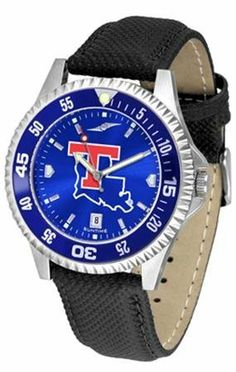 Louisiana Tech Bulldogs NCAA Mens Leather Anochrome Watch SunTime. $79.95. Men. Adjustable Band. Poly/Leather Band. AnoChrome Dial Enhances Team Logo And Overall Look. Officially Licensed Louisiana Tech La Tech Men's Leather Wristwatch