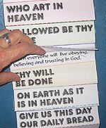 LANGUAGE ARTS: Lord's Prayer folding craft