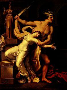 Ajax and Cassandra by Johann Heinrich Wilhelm Tischbein, 1806
