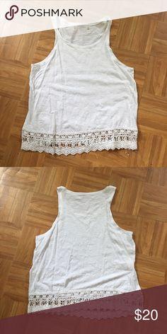 Boho white lace tank Boho white lace tank Tops Tank Tops