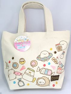 San-X SumiKKO gurashi Mini Tote Bag Shirokuma Neko For Lunch Bag Bento Box Japan