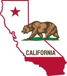 This clip art contains the outline of the state of California. I used elements from the Flag of California to make an image that could show both. The size of the star was increased and the size of grass plot was decreased. California State Outline, California Regions, California Flag, California Chicken, California History, Southern California, Arte Cholo, History For Kids, Family History