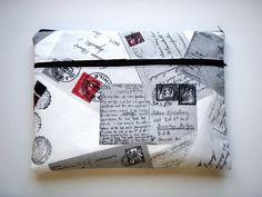 17 inch Laptop Sleeve Postcards Handmade Babimini Bag Case. €30.00, via Etsy.