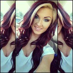 Burgundy N Blonde Color