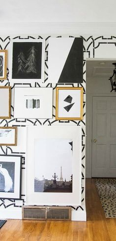 Blogger Kristin, of Bliss at Home, turned her childhood home into her dream house with a glamorous art deco makeover. This black and gold color scheme makes Kristin's home feel sophisticated while gold accents balance out the bold colors. @theeverygirl