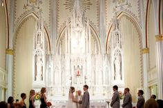 #church #wedding #bride #groom #tradional #amazing Real Downtown Kansas City Wedding at Redemptorist Church by Melissa and Beth Photography on Marry Me Metro Blog, http://marrymemetro.com