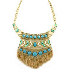Pree Brulee - Uluru Tribal Mint  Azure Necklace