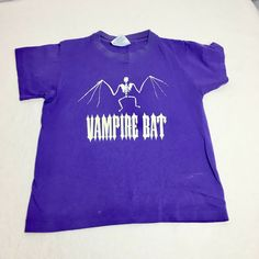 Vintage Glow In The Dark Vampire Bat T-Shirt Halloween Skeleton Kids Size 10/12 #SkeleTees #Holiday Bat Shirt, Vampire Bat, Halloween Skeletons, The Darkest, Glow, Size 10, T Shirts For Women, Tees, Mens Tops
